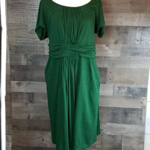 eShakti Forest green 100% cotton dress size 2x